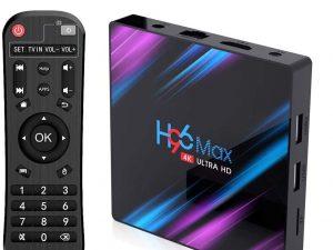 EstgoSZ Android 9.0 TV Box, H96 MAX RK3318 4GB+32GB Quad-core 4K Smart TV Box, Support 2.4G/2.5G Dual WiFi/HDR/Bluetooth/USB 3.0/3D/AV