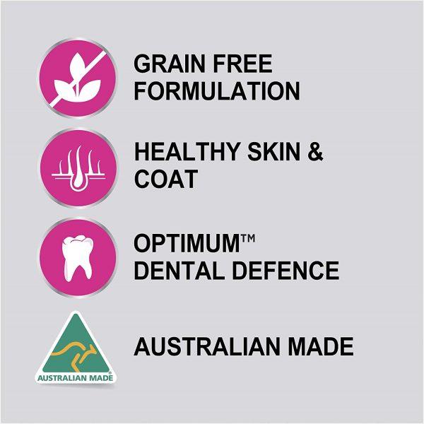 OPTIMUM Adult Grain Free Chicken Dry Dog Food 4 x 2.5kg pack